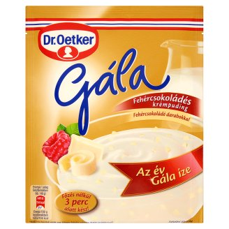 Dr. Oetker Gála White Chocolate Flavoured Cream Pudding Powder with White Chocolate Pieces 95 g