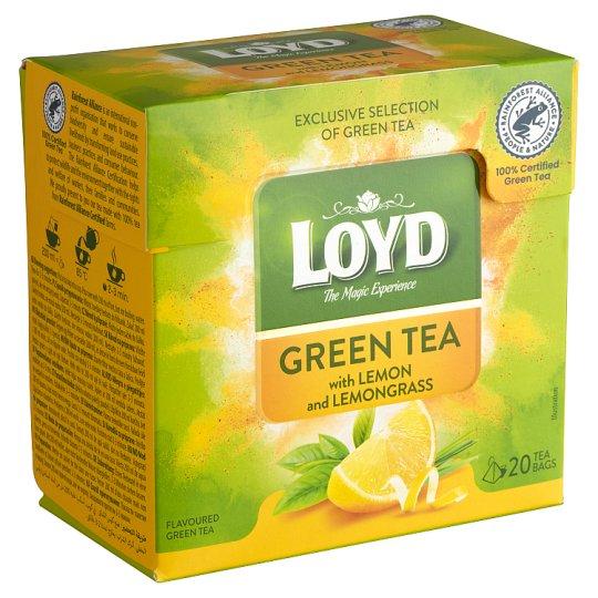 Loyd citromhéjjal és citromfűvel ízesített filteres zöld tea 20 filter 30 g