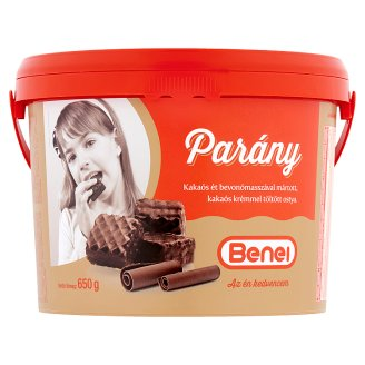 Benei Parány Wafers Filled with Cocoa Cream Coated in Dark Compound 650 g