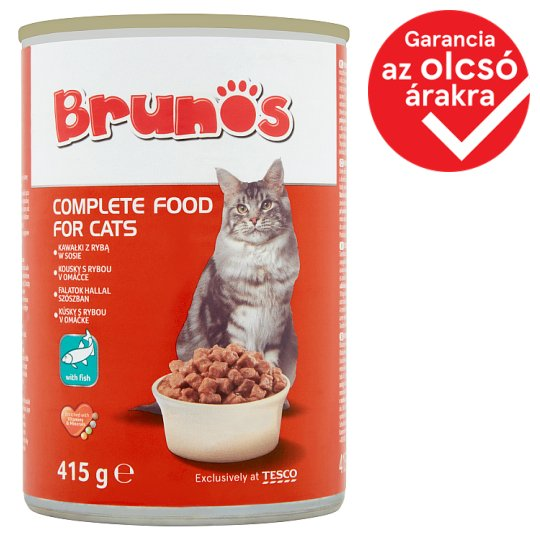 Brunos Complete Food for Cats with Fish in Sauce 415 g