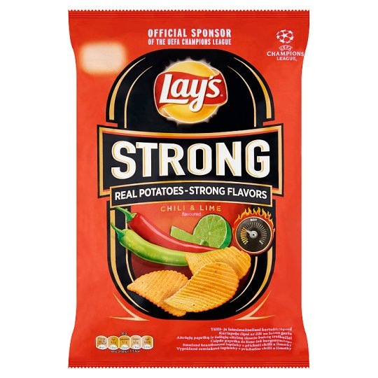 Lay's Strong Chili & Lime Flavoured Potato Chips 70 g