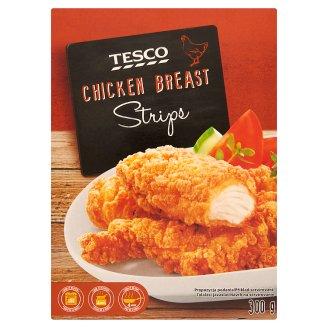 Tesco gyorsfagyasztott, csirkemellfilé felhasználásával készült, panírozott termék 300 g