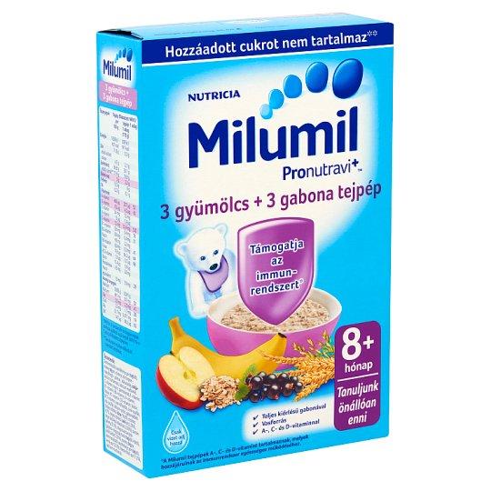 Milumil 3 gyümölcs + 3 gabona tejpép 8 hó+ 225 g