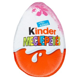 Kinder Meglepetés for Little Girls Fine Milk Chocolate Shell with Milky White Lining 20 g
