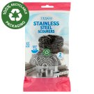 Tesco Stainless Steel Scourers 2 pcs