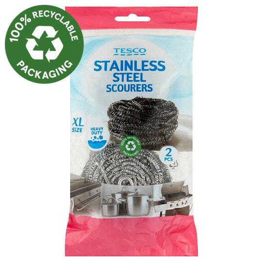 Tesco Stainless Steel Scourers 2 pcs
