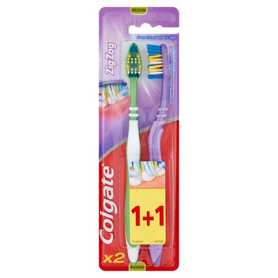 Colgate ZigZag Medium Toothbrush 2 pcs