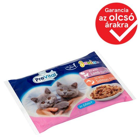 PreVital Junior Alutasakos teljes értékű állateledel kölyök macskák számára szószban 4 x 100 g