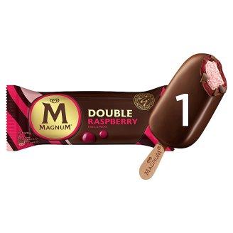 Magnum Double Raspberry málnás jégkrém málnás szósszal és tejcsokoládé bevonattal 88 ml