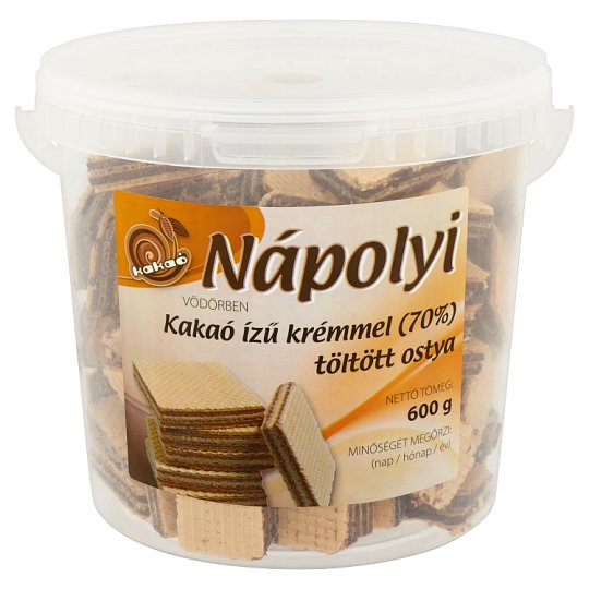 Nápolyi Vödörben Wafer Filled with Cocoa Flavoured Cream 600 g