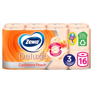 Zewa Deluxe Cashmere Peach Toilet Paper 3 Ply 16 Rolls