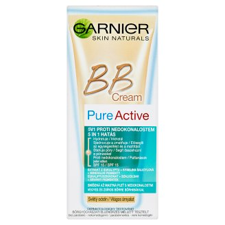 Garnier Skin Naturals Pure Active 5in1 BB krém vegyes & zsíros bőrre világos árnyalat SPF 15 50 ml