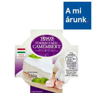 Tesco Camembert with Garlic 120 g