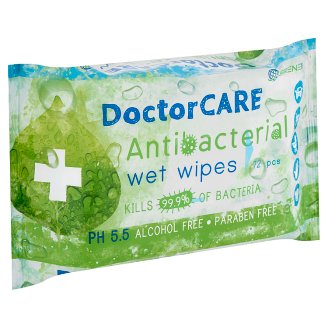 DoctorCare Antibacterial Wet Wipes 72 pcs