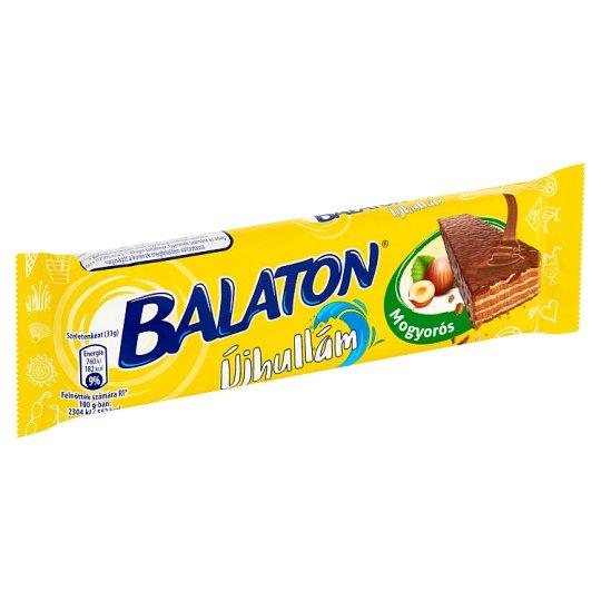 Balaton Újhullám Hazelnut Cream Filled Wafer Dipped in Milk Chocolate 33 g
