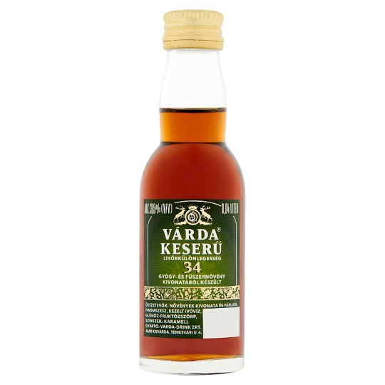 Várda Keserű Bitter Liqueur Speciality 37,5% 0,04 l