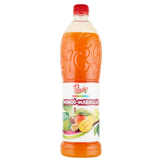 Pölöskei Mango-Passion Fruit Mixed Syrup with Sugar and Sweetener 1 l
