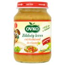 Ovko Gluten- and Dairy-Free Vegetable Soup with Chicken and Rice Food for Babies 6+ Months 190 g