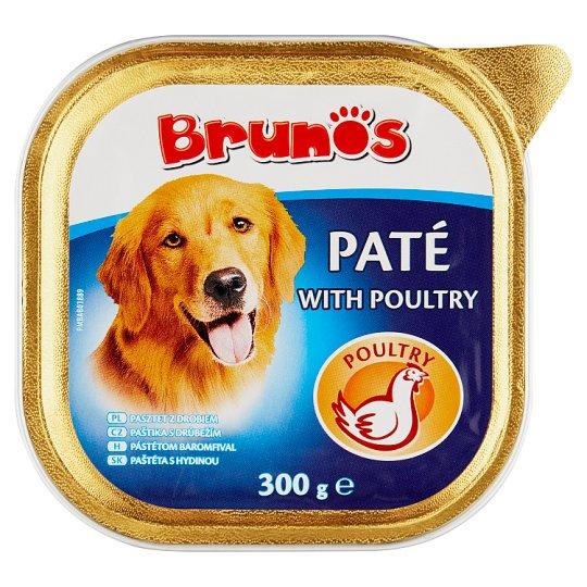 Brunos pástétom baromfival teljes értékű állateledel felnőtt kutyák számára 300 g