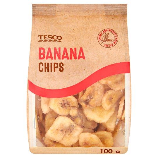 Tesco kandírozott, sült banánszeletek 100 g