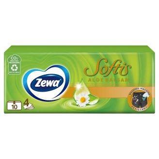Zewa Softis Aloe Balsam illatosított papír zsebkendő 4 rétegű 10 x 9 db