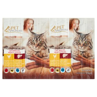 Tesco Pet Specialist Cat Snacks Meaty Sticks with Poultry & Liver 10 pcs 50 g