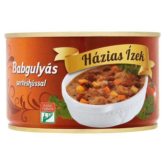 Házias Ízek Bean Goulash with Pork 400 g