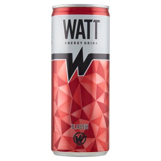 Watt Classic Tutti-Frutti Flavoured Carbonated Energy Drink with Caffeine and Vitamins 0,25 l