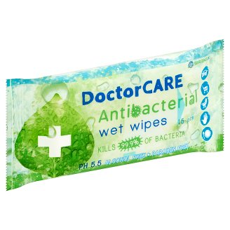 DoctorCare Antibacterial Wet Wipes 15 pcs
