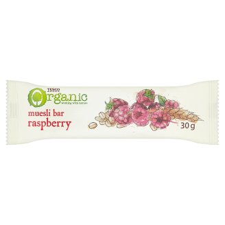 Tesco Organic Muesli Bar with Raspberry Pieces 30 g