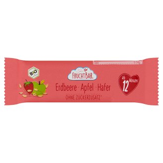 FruchtBar Organic Muesli Bar with Strawberry, Apple and Oatmeal 12 Months+ 23 g