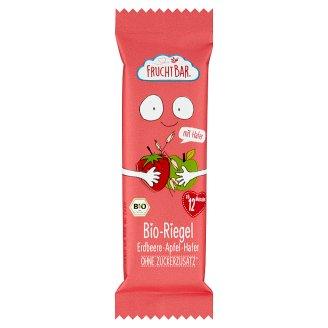 FruchtBar BIO müzliszelet eperrel, almával és zabpehellyel 12 hónapos kortól 23 g