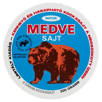 Medve Unflavoured, Fat, Processed Cheese Spread 8 pcs 200 g