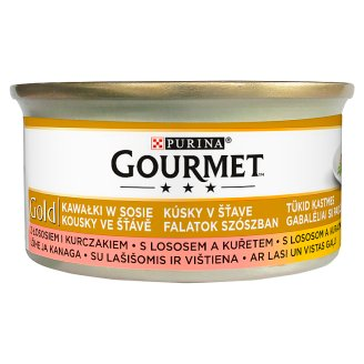 Gourmet Gold Bites in Sauce Wet Cat Food with Salmon and Chicken 85 g