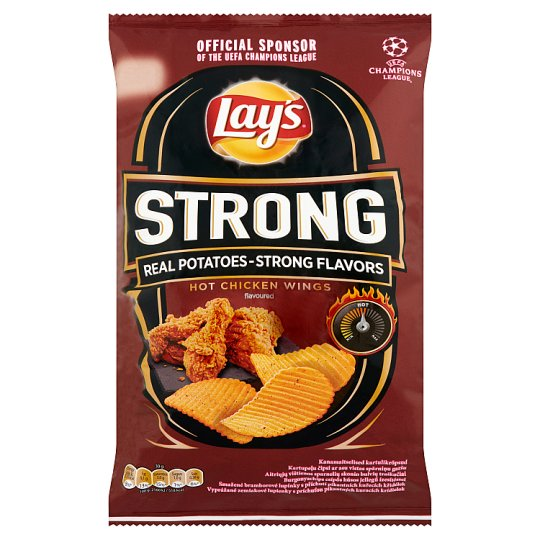 Lay's Strong Hot Chicken Wings Flavoured Potato Chips 70 g