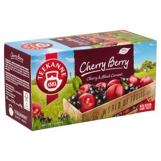 Teekanne World of Fruits Cherry Berry Cherry-Black Currant Fruit Tea Blend 20 Tea Bags 45 g