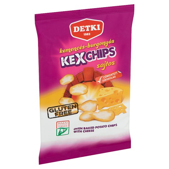 Detki Kexchips Oven Baked Potato Chips with Cheese 75 g
