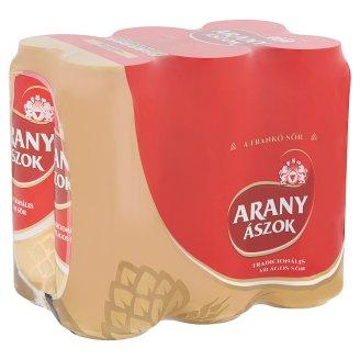 Arany Ászok világos sör 4,3% 6 x 0,5 l