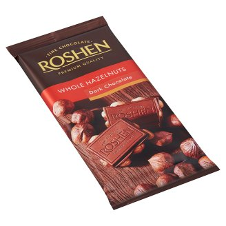 Roshen Dark Chocolate with Whole Hazelnuts 90 g
