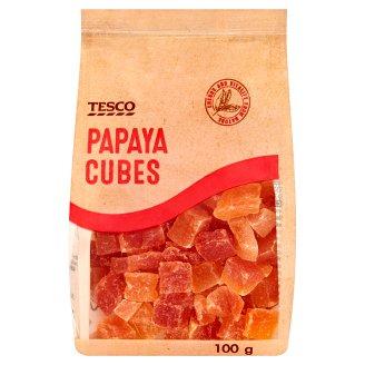 Tesco kandírozott papaya kockák 100 g