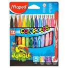 Maped Color' Peps Jungle Washable Markers 12 pcs