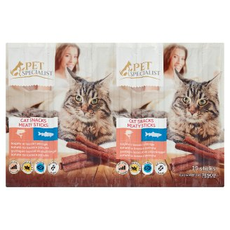 Tesco Pet Specialist Cat Snacks Meaty Sticks with Salmon & Trout 10 pcs 50 g