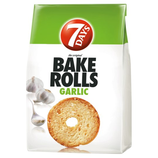 7DAYS Bake Rolls Bread Crisps with Garlic 80 g
