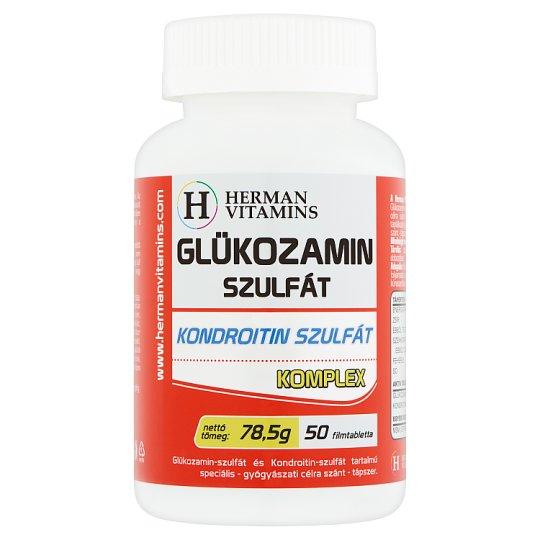 Herman Vitamins Glükozamin-szulfát Kondroitin-szulfát komplex speciális tápszer 50 db 78,5 g