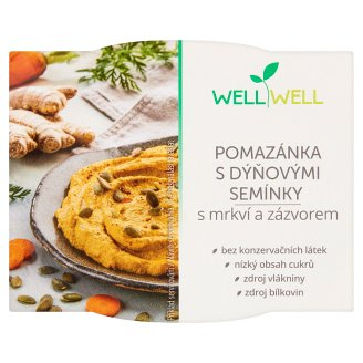 Well Well Vegan Carrot Paté with Pumpkin Seed and Ginger 115 g