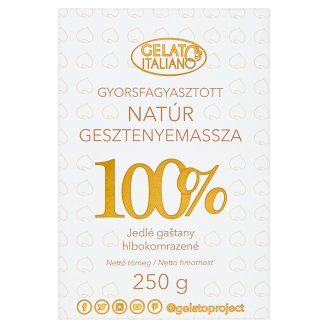 Gelato Italiano Quick-Frozen 100% Unflavoured Chestnut Puree 250 g