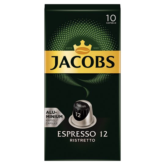 Jacobs Espresso 12 Ristretto Ground-Roasted Coffee in Capsules 10 pcs 52 g
