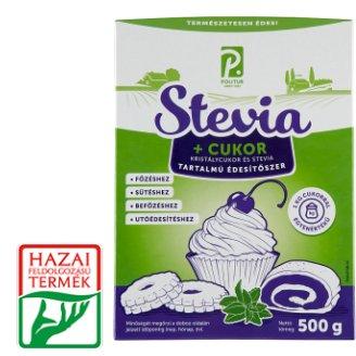 Kristálycukor és stevia tartalmú asztali édesítőszer 500 g