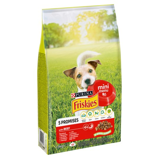 Friskies Vitafit Mini Menü Complete Food for Small Dogs with Beef 1,5 kg