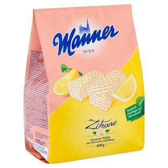Manner Crispy Wafers Filled with Lemon Cream 400 g